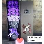 18 Purple flower bouquet