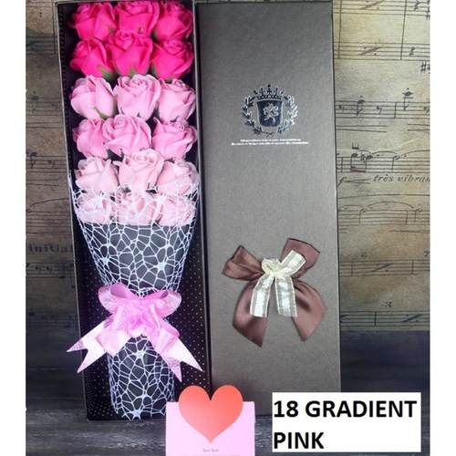 18 Pink flower bouquet