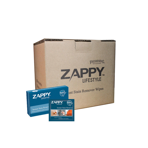 ZAPPY Instant Stain Remover Wipes 6 pcs x  8 Boxes
