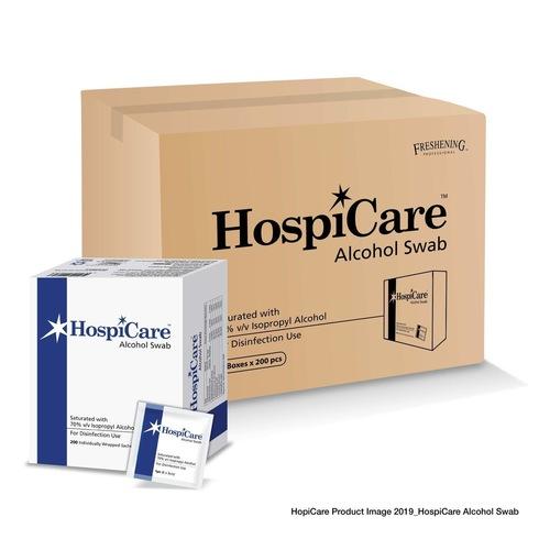 Hospicare Alcohol Swab 200s x 12 Boxes Carton