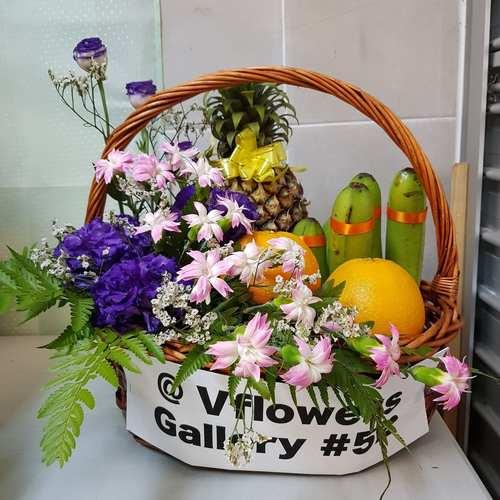 Vflowers Blue Grand Basket