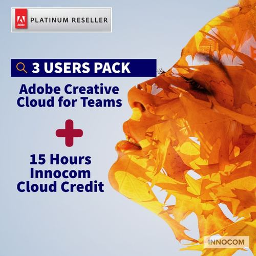 ADOBE CREATIVE CLOUD FOR TEAMS – 1 YEAR  -3 USERS