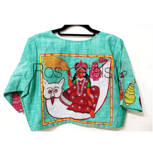 MahaLakshmi handpainted blouse