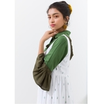 Pickle green crop shirt