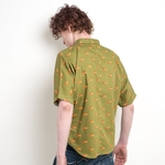 Fox print kimono sleeve unisex shirt