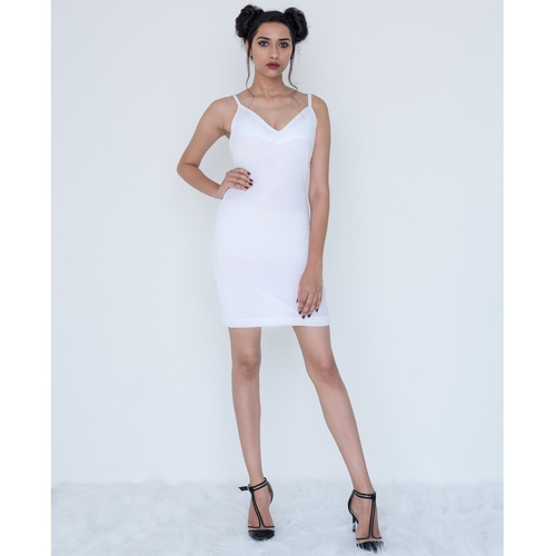 White spaghetti cami-dress