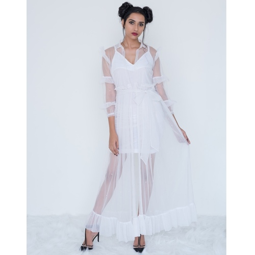 White net Mary coat dress
