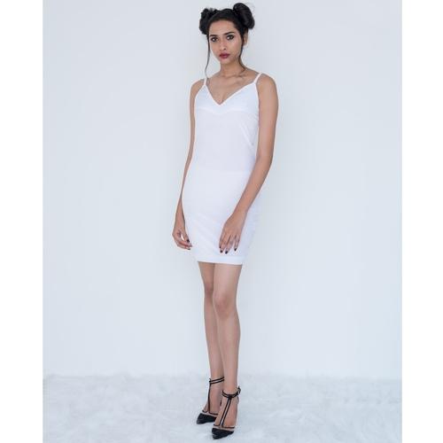 White spaghetti cami-dress