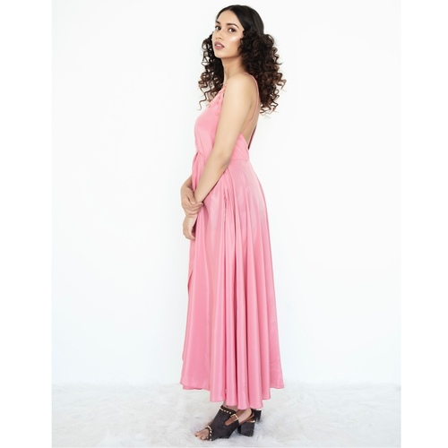 Overlap maxi dress