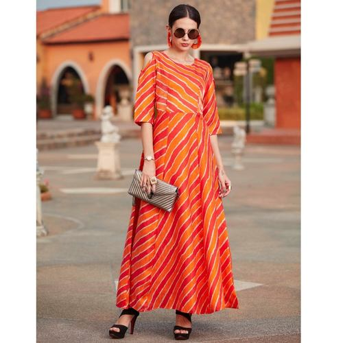 Fasdest  Designer Banglory Satin Silk Gown