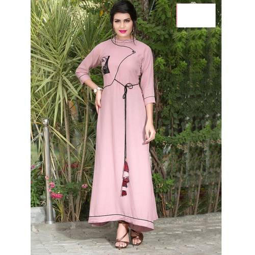 Fasdest Women/Ladies Rayon Flex Kurti/Gown