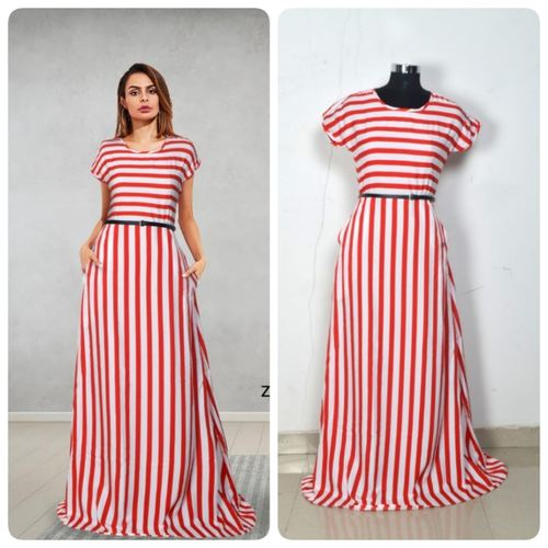 Fasdest  Designer Heavy American Crepe  Gown