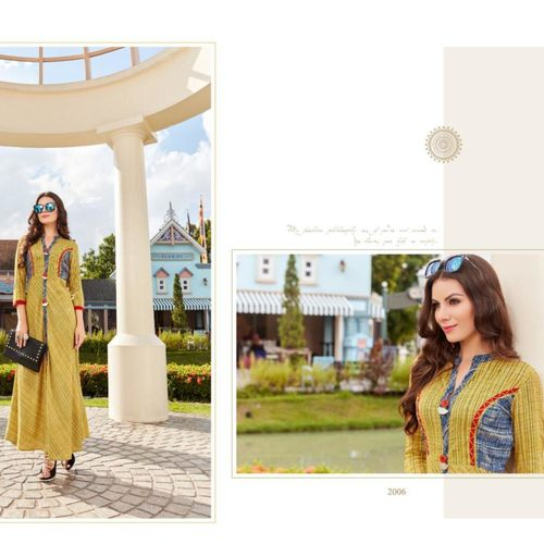 Fasdest Women/Ladies Long  Designer Rayon  Kurti /Gown/Dress (L2006)
