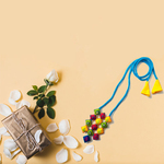 13 Block Embroidered Necklace