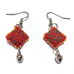 Handcrafted Fabric Embroidered Earrings