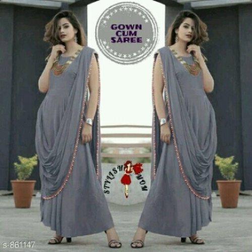 kurti with pallu