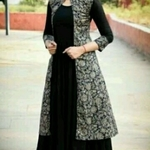 Rayon kurti with shrug