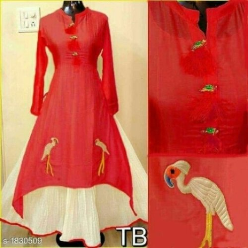 Beautiful kurti chenderi cotton