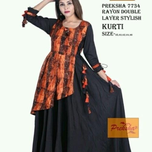 Rayon stylish kurti