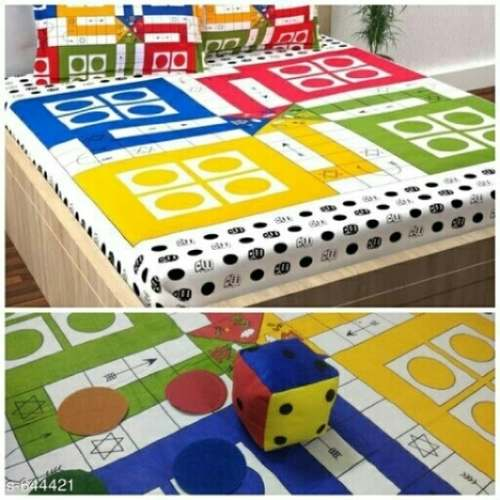 digital print cotton sheet with dice