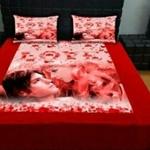 Velvet Bedsheet with pillow cover
