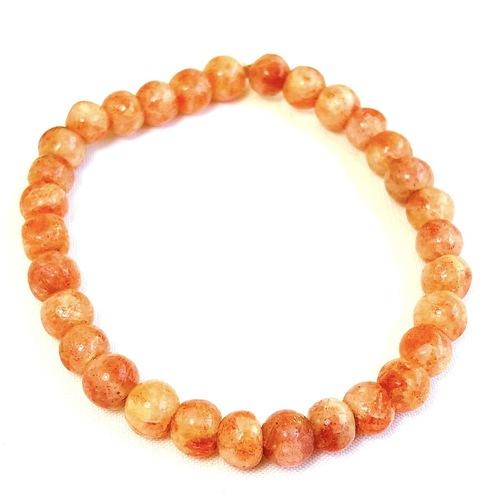 Sunstone Bracelet - Round Beads