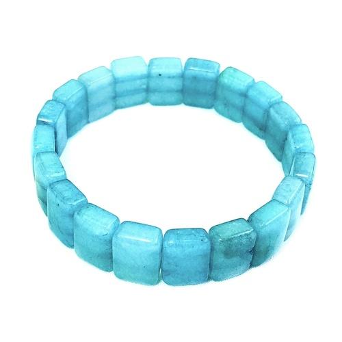 Amazonite Bracelet - Flat Beads