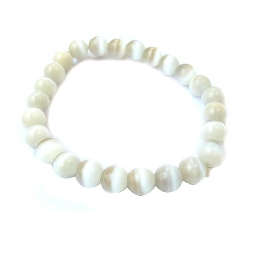 Selenite Bracelet - Round Beads