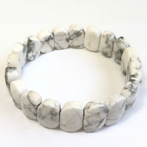 Howlite Bracelet - Flat Beads (Small)