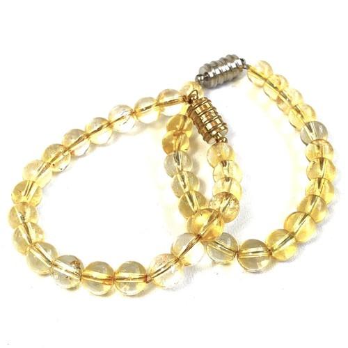 Citrine Bracelet - Round Beads