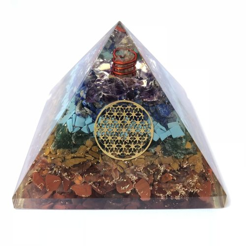 Mixed Chakra Organite Pyramid
