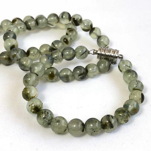 Prehnite Bracelet - Round Beads