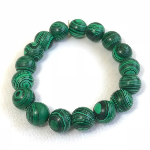 Malachite Bracelet - Round Beads (Big)