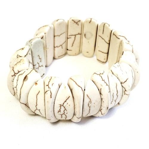 Howlite Bracelet - Flat Beads (Brazilian)