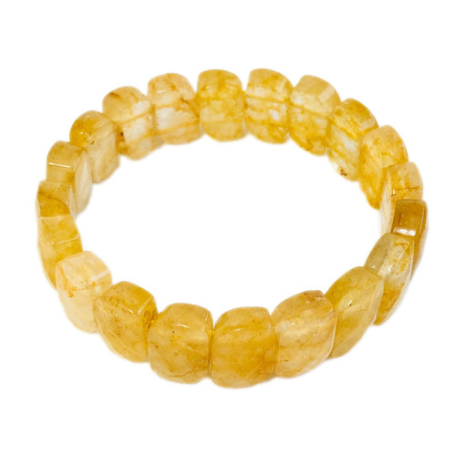 Citrine Bracelet - Flat Beads