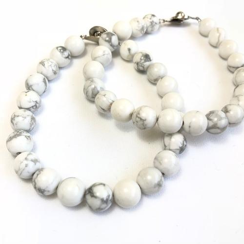 Howlite Bracelet - Round Beads