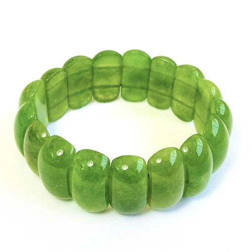Green Aventurine Bracelet - Flat Beads (Big)