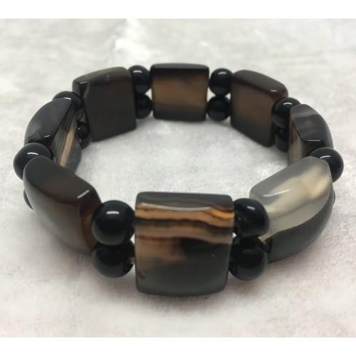 Onyx Bracelet - Flat Beads