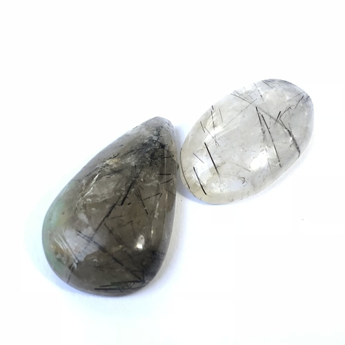 Black Rutile Quartz - Medium