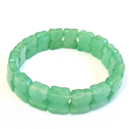 Green Aventurine Bracelet - Flat Beads (Small)