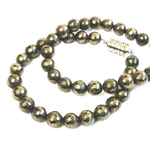 Pyrite Bracelet - Round Beads