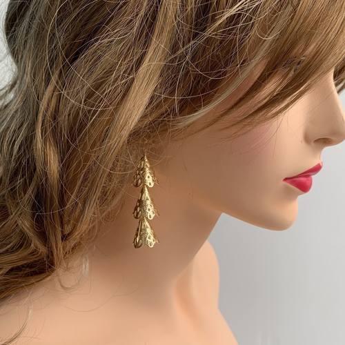 RAJNI  gold tier drop earrings