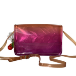 Front view of THE SINGAPORE SLING BAG - Purple combo, showing shoulder strap