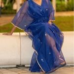 JEWEL blue kaftan resort maxi dress set set
