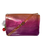 Front view of THE SINGAPORE SLING BAG - Purple combo