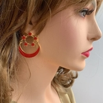 SINGAPORE ENSIGN earrings- 3 PIECES LEFT