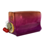 Side view of THE SINGAPORE SLING BAG - Purple combo