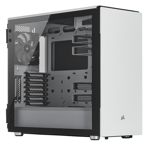 Corsair Carbide Series 678C Low Noise Tempered Glass ATX Case — White