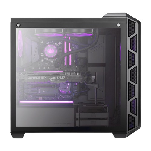 Coolermaster MASTERCASE H500 (200mm RGB Fans/Tempered Glass)
