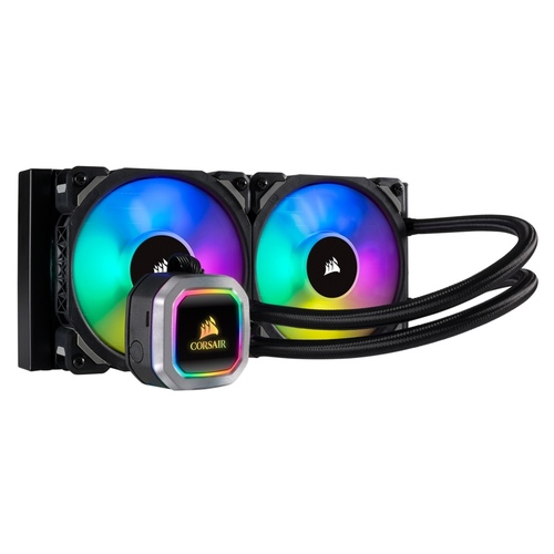 Corsair Hydro Series H100i RGB Platinum 240mm Radiator, Dual 120mm RGB PWM fans (CS-CW-9060039-WW)